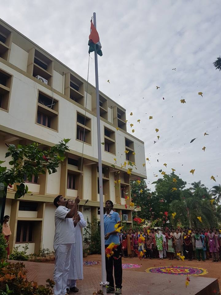 Chairman hoisted National Flag at Nursing College