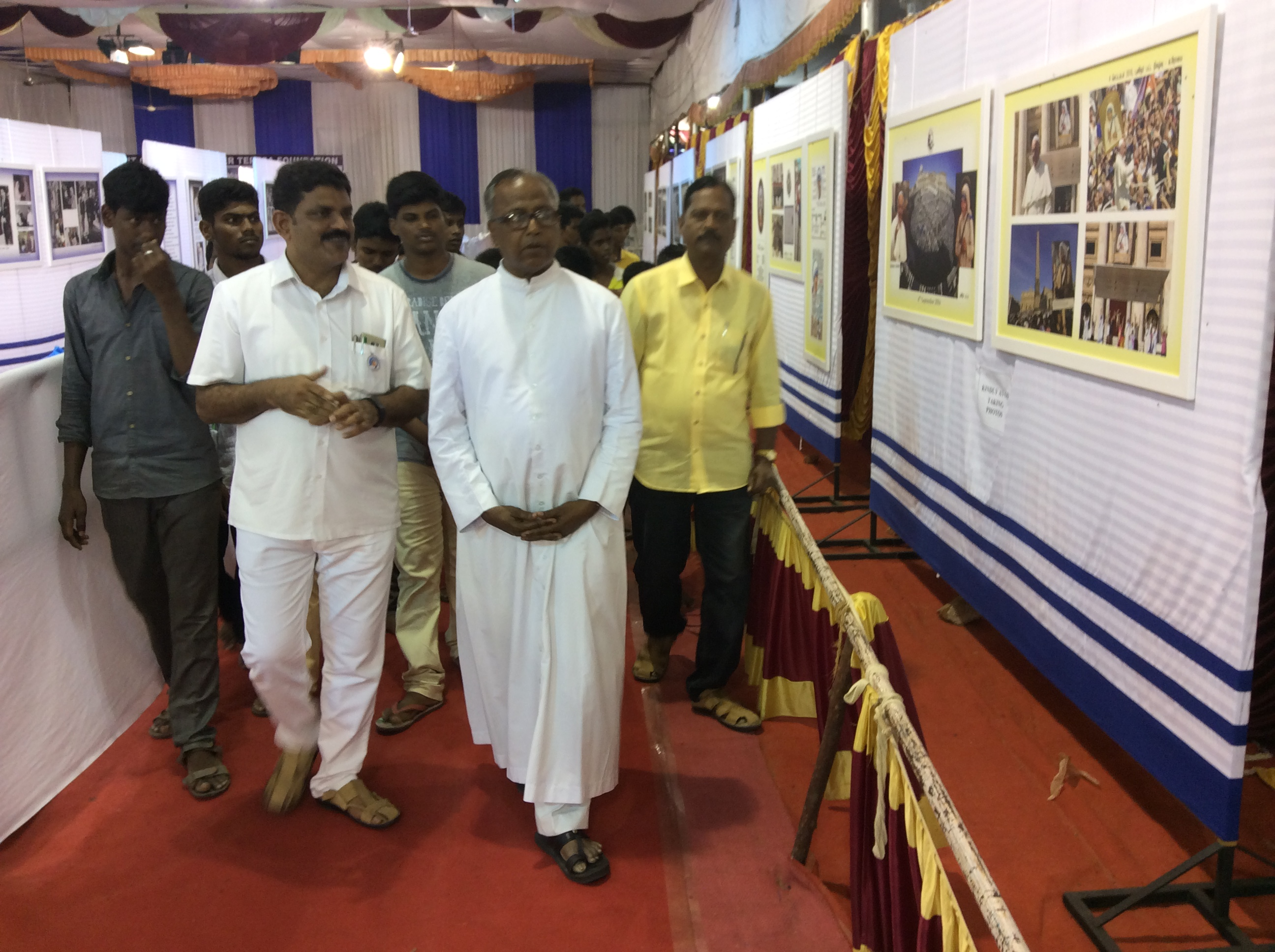 Most. Rev. Dr. F. Antonysamy going round the exhibition hall