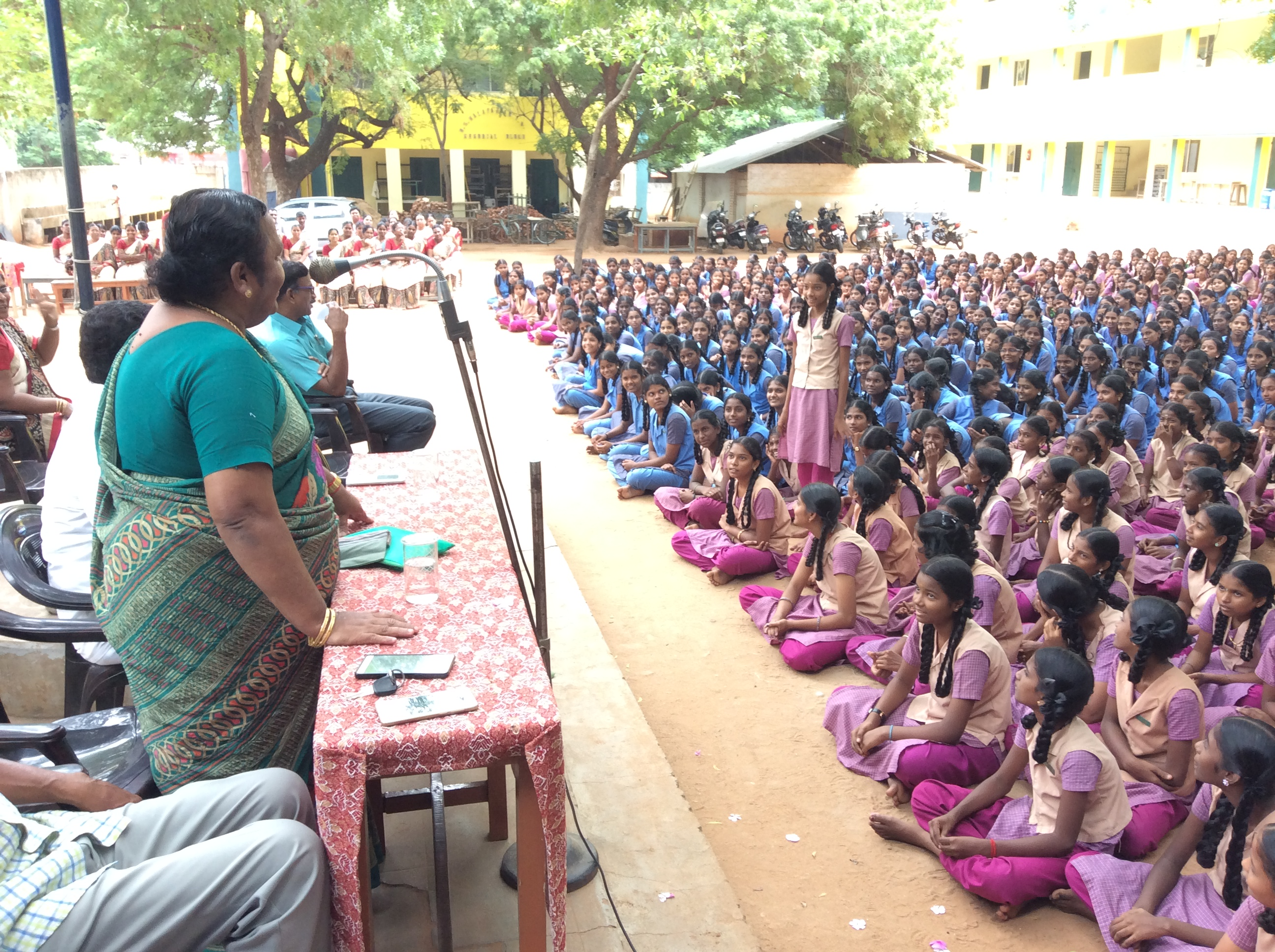 Tmt.Tamilarasi, HR Specialist conducting workshop