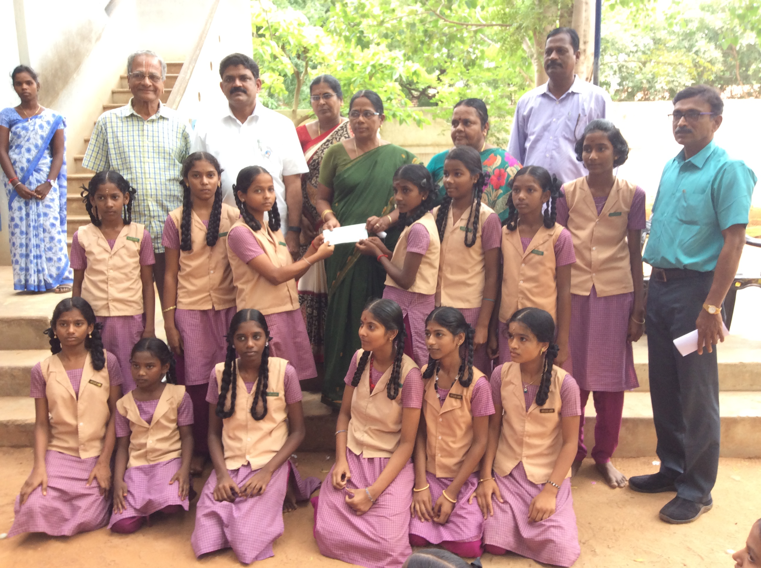 Scholarship to students of P.V.Selvaraj Girls Hr.Sec.School