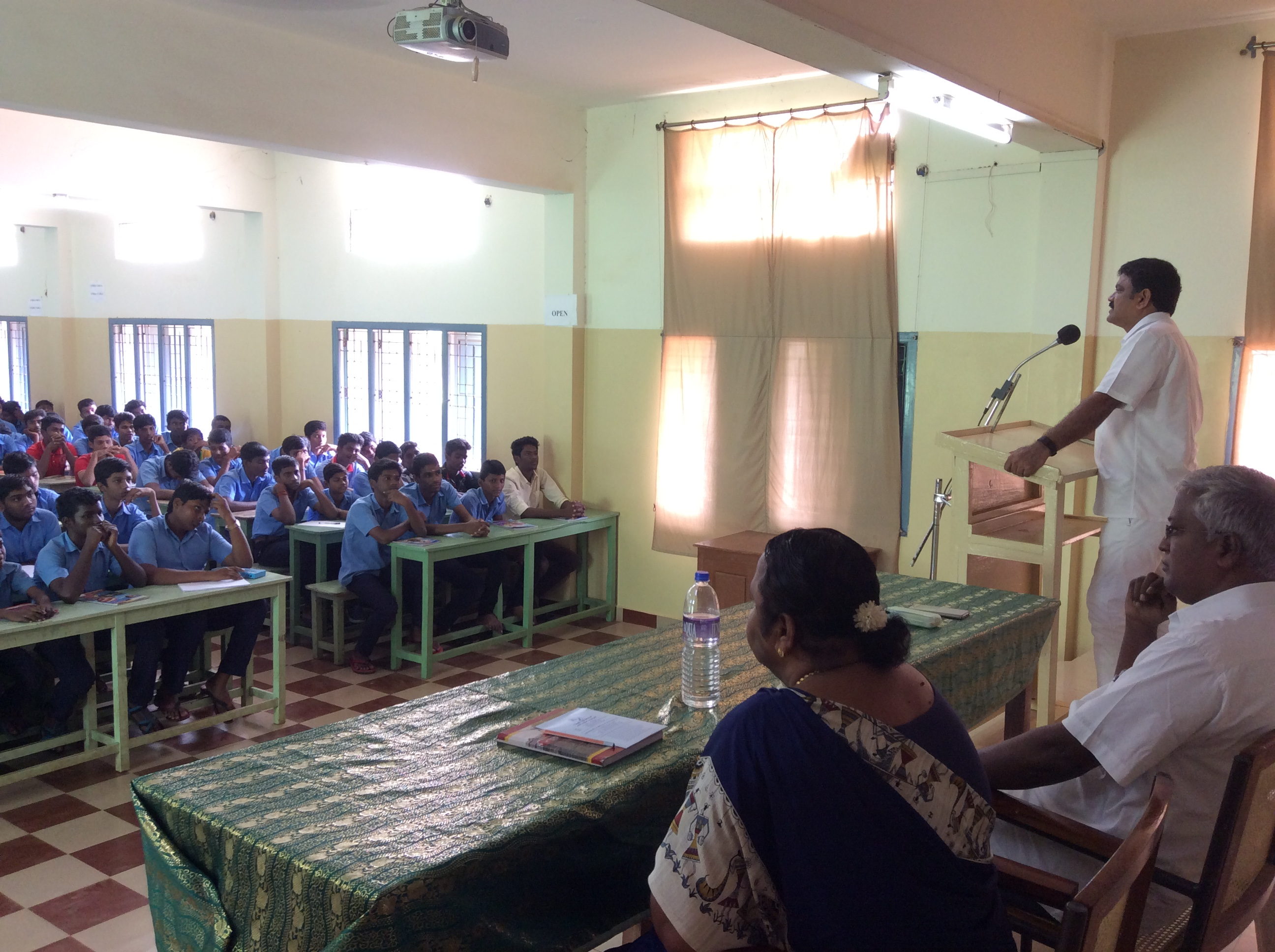 Chairman addressing the students of St. Antony's Hr.Sec.School