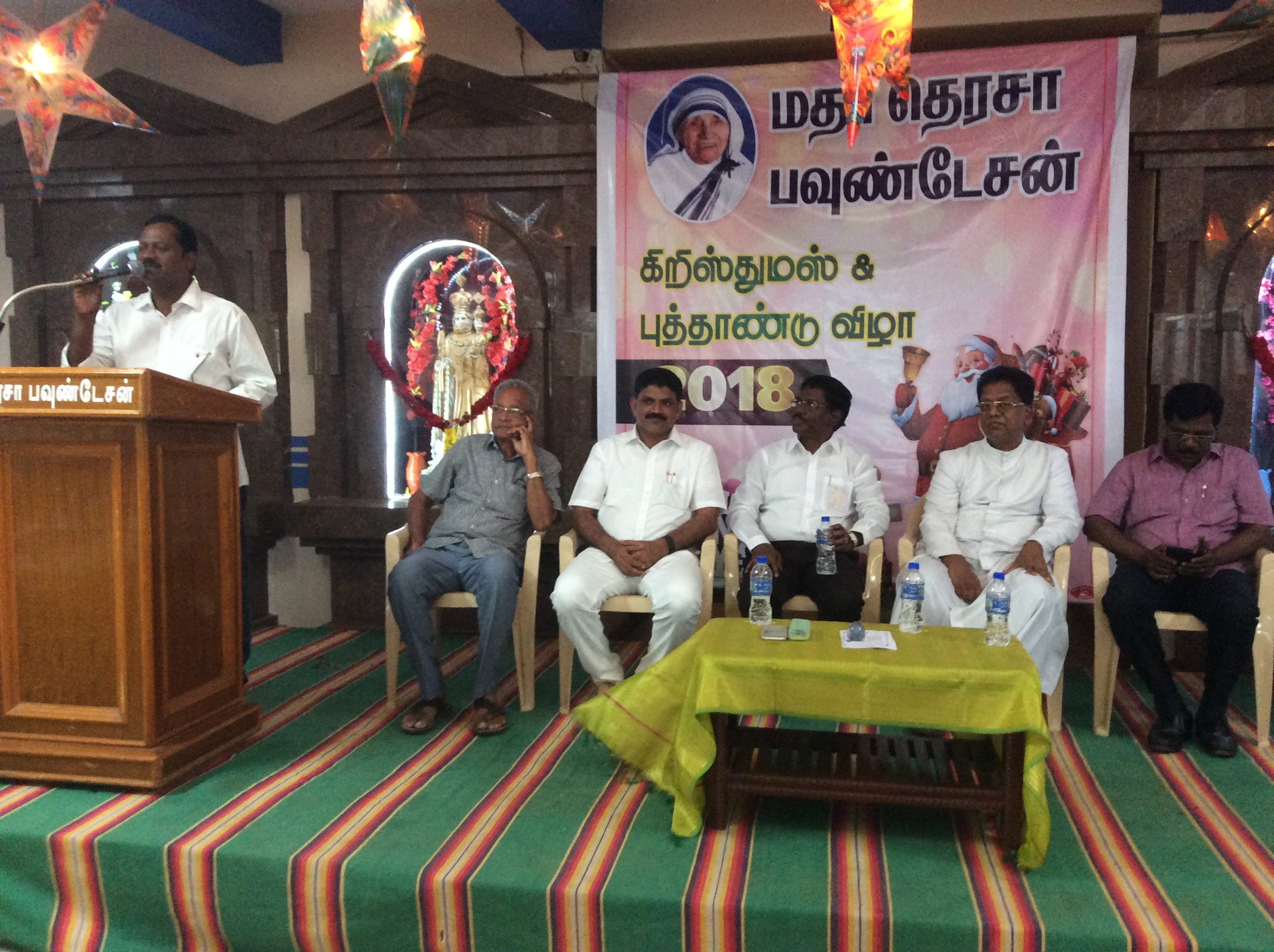 Thiru.N.Sakthivel, DRO addressing the audience.